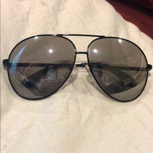 Marc Jacobs black metal mirror aviator sunglasses